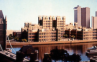 London: London Bridge City Scheme--3. Gothic Revival, Philip Johnson & John Burgee.