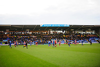 A general view of Montgomery Waters Meadow, home of Shrewsbury Town showing the safe standing area at the back<br /> <br /> Photographer Andrew Vaughan/CameraSport<br /> <br /> The EFL Sky Bet League One - Shrewsbury Town v Lincoln City - Saturday 11th January 2020 - New Meadow - Shrewsbury<br /> <br /> World Copyright © 2020 CameraSport. All rights reserved. 43 Linden Ave. Countesthorpe. Leicester. England. LE8 5PG - Tel: +44 (0) 116 277 4147 - admin@camerasport.com - www.camerasport.com