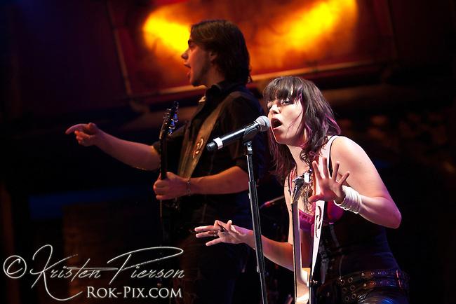 Halestorm performing at the Wolf Den at Mohegan Sun Casino on December 30, 2011.