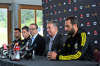 Coach Ernie Merrick discusses his resignation from the Wellington Phoenix club at Newtown Park in Wellington, New Zealand on Tuesday, 6 December 2016. Photo: Dave Lintott / lintottphoto.co.nz