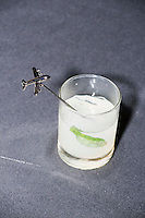 A cocktail with an airplane stirstick stands on a table during the MSNBC After Party at the United States Institute of Peace in Washington, DC. American Airlines was a sponsor of the party. The party followed the annual White House Correspondents Association Dinner on Saturday, April 30, 2016. The party continued until about 3 AM on Sunday, May 1, 2016.
