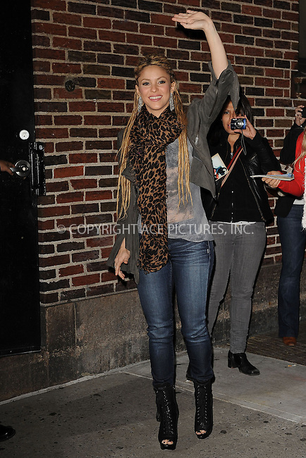WWW.ACEPIXS.COM . . . . . ....November 10 2009, New York City....Singer Shakira made an appearance at the 'Late Show With David Letterman' at the Ed Sullivan Theater on November 10, 2009 in New York City.....Please byline: KRISTIN CALLAHAN - ACEPIXS.COM.. . . . . . ..Ace Pictures, Inc:  ..tel: (212) 243 8787 or (646) 769 0430..e-mail: info@acepixs.com..web: http://www.acepixs.com