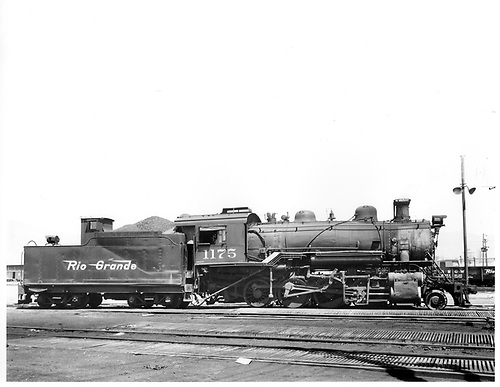D&amp;RGW #1175 in Salt Lake City.<br /> D&amp;RGW  Salt Lake City, UT  Taken by Payne, Andy M. - 5/6/1955