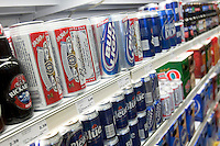 Various beer products and brands are seen in a Metro grocery store in Quebec city March 4, 2009.