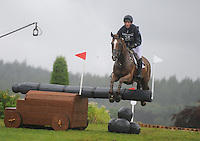 Blair Atholl, Scotland, UK. 12th September, 2015. Longines  FEI European Eventing Championships 2015, Blair Castle. Oliver Townend (GBR) riding Fenyas Elegance during the Cross country phase © Julie Priestley