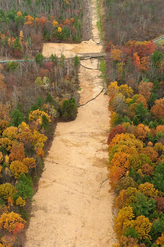Pipeline. Bradford County, Marcellus Shale, Pennsylvania.