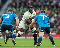 Twickenham, United Kingdom. Maro ITOJE, breaking with the ball,  during the  6 Nations International Rugby Match, England vs Italy at the RFU Stadium, Twickenham, England, <br /> <br /> Sunday  26/02/2017<br /> <br /> [Mandatory Credit; Peter Spurrier/Intersport-images]