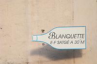 Tasting Blanquette de Limoux Emile Satge. Town of Limoux. Limoux. Languedoc. France. Europe. Bottle.