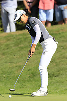 Minjee Lee (AUS) putts on the 5th green during Thursday's Round 1 of The Evian Championship 2018, held at the Evian Resort Golf Club, Evian-les-Bains, France. 13th September 2018.<br /> Picture: Eoin Clarke | Golffile<br /> <br /> <br /> All photos usage must carry mandatory copyright credit (© Golffile | Eoin Clarke)