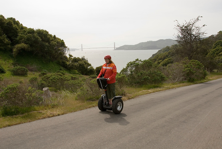 People on Segways on Angel Island in San Francisco Bay, California, CA..Photo camari229-70423..Photo copyright Lee Foster, www.fostertravel.com, 510-549-2202, lee@fostertravel.com