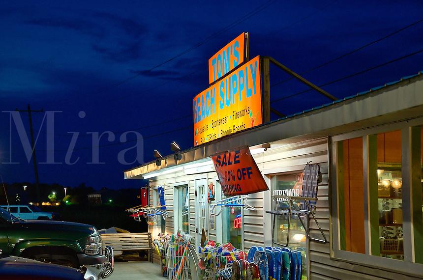 Beach supply convenience store, Chincoteague, Virginia, USA