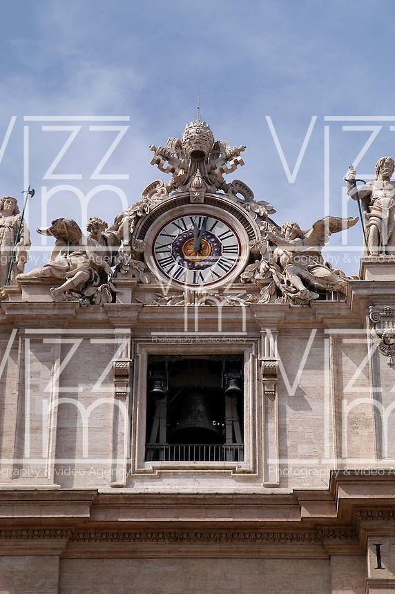 CIUDAD DEL VATICANO-19-09-2004. Basílica de San Pedro en la Ciudad del Vaticano, Italia, septiembre 19 de 2004. St Peter Cathedral in the Vatican City, on September 19, 2004. (Photo: VizzorImage/Luis Ramirez)................