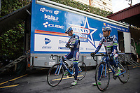 Danilo Napolitano (ITA/Wanty-Groupe Gobert) &amp; Mark McNally (GBR/Wanty-Groupe Gobert) ready for another (long) day on the bike<br /> <br /> Pro Cycling Team Wanty-Groupe Gobert <br /> <br /> Pre-season Training Camp january 2016
