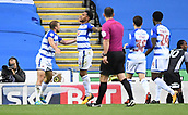 30th September 2017, Madejski Stadium, Reading, England; EFL Championship football, Reading versus Norwich City; Liam Moore of Reading celebrates scoring his sides equaliser in the 10th minute which made it 1-1