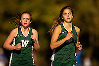 Photography of the Woodlawn School Varsity Cross Country team running Monday afternoon October 19, 2016 at McAlpine Park in Charlotte, NC<br /> <br /> Charlotte Photographer - PatrickSchneiderPhoto.com