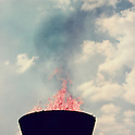 Olympic Flame, <br /> OCTOBER 10, 1964 - Opening Ceremony : Olympic Flame burns during the Opening Ceremony of 1964 Tokyo Olympic Games at National Stadium in Tokyo, Japan.<br /> (Photo by Shinichi Yamada/AFLO) [0348]