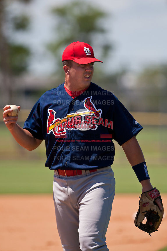 Zack Cox of the Gulf Coast League Cardinals at the Digital Domain Park Complex in St. Lucie, Florida August 27, 2010. Cox was the St. Louis Cardinals 1st round pick (25th overall) of the 2010 MLB Draft. Photo By Scott Jontes/Four Seam Images