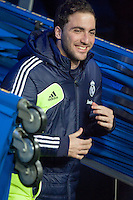 Higuain leave the tunnel