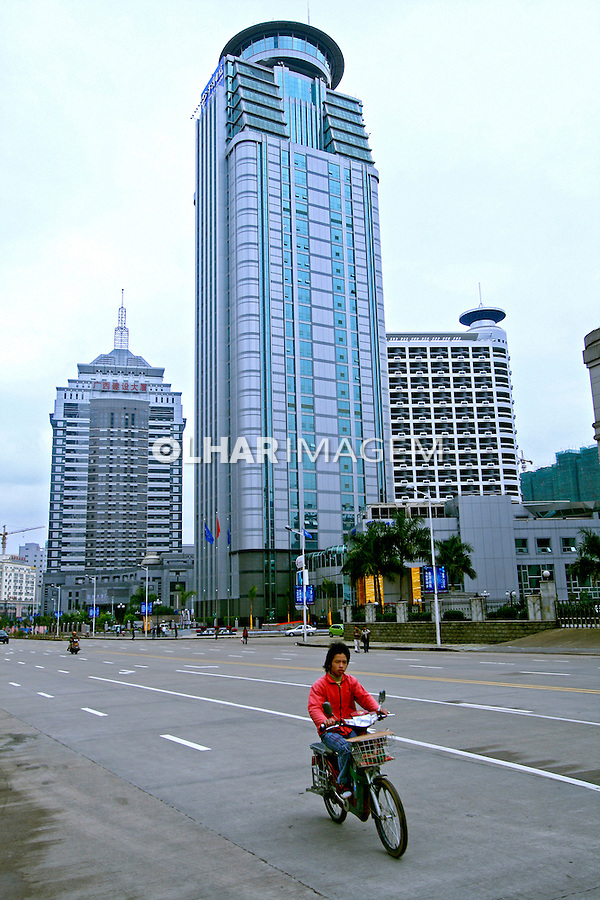 Transporte em bicicleta em Nanning. China. 2007. Foto de Flávio Bacellar.