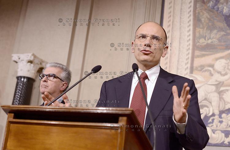 Roma, 29 Marzo 2013.Secondo giro di Consultazioni per la formazione del Governo. .La delegazione del PD Enrico Letta