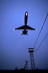 An airplane lands at MSP International airport in Minnesota.