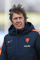 20180326 - VEEN , THE NETHERLANDS : Dutch coach Marleen Wissink  pictured during the UEFA Women Under 17 Elite round game between The Netherlands WU17 and Portugal WU17, on the second matchday in group 1 of the Uefa Women Under 17 elite round in The Netherlands , monday 26 th March 2018 . PHOTO SPORTPIX.BE    DIRK VUYLSTEKE