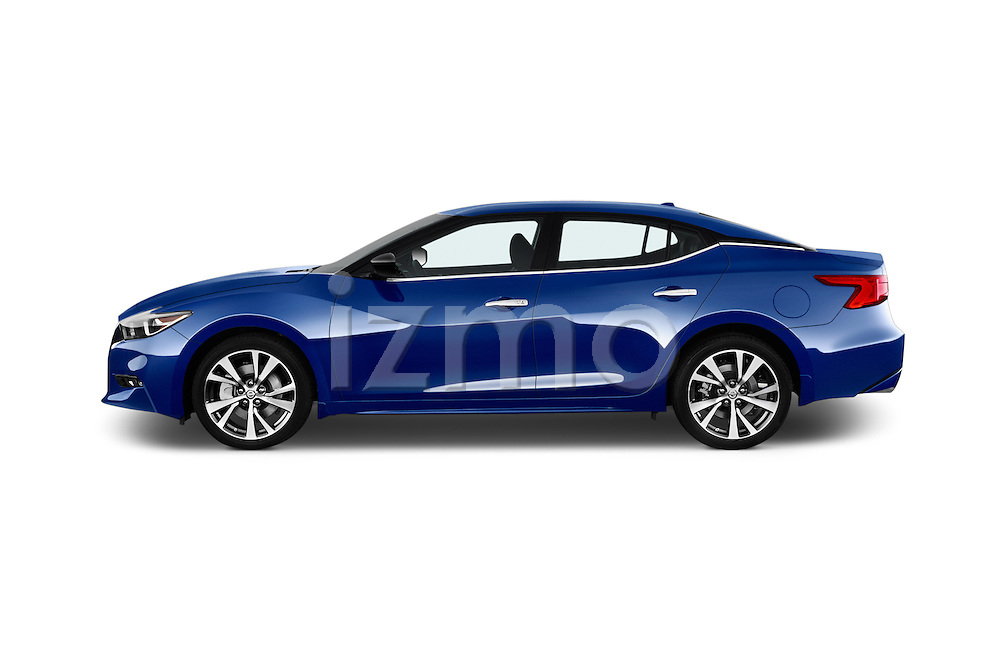 Car Driver side profile view of a 2016 Nissan Maxima S 4 Door Sedan Side View