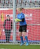 20160412 - LEUVEN ,  BELGIUM : Estonian Imbi Hoop pictured during the female soccer game between the Belgian Red Flames and Estonia , the fifth game in the qualification for the European Championship in The Netherlands 2017  , Tuesday 12 th April 2016 at Stadion Den Dreef  in Leuven , Belgium. PHOTO SPORTPIX.BE / DIRK VUYLSTEKE