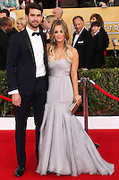 LOS ANGELES, CA - JANUARY 18: Ryan Sweeting, Kaley Cuoco at the 20th Annual Screen Actors Guild Awards held at The Shrine Auditorium on January 18, 2014 in Los Angeles, California. (Photo by Xavier Collin/Celebrity Monitor)