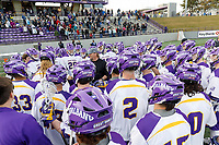 UAlbany Men's Lacrosse defeats Stony Brook on March 31 at Casey Stadium.  Albany coach Scott Marr postgame.