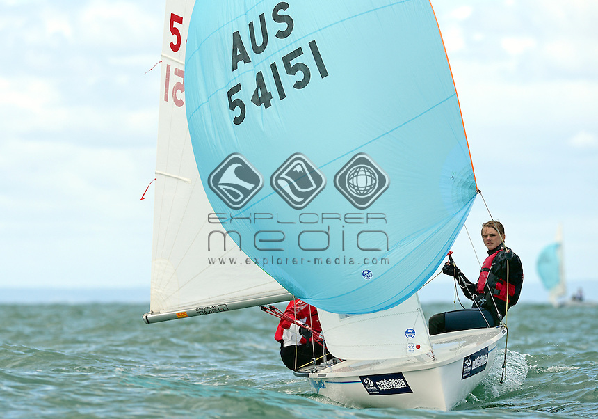 420 / Will BOULDEN &amp; Nic GALE (AUS)<br /> 2013 ISAF Sailing World Cup - Melbourne<br /> Sail Melbourne - The Asia Pacific Regatta<br /> Sandringham Yacht Club, Victoria<br /> December 1st - 8th 2013<br /> &copy; Sport the library / Jeff Crow
