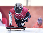 Jane Channell (CAN). Skeleton training. Alpensia sliding centrePyeongchang2018 winter Olympics. Alpensia. Republic of Korea. 13/02/2018. ~ MANDATORY CREDIT Garry Bowden/SIPPA - NO UNAUTHORISED USE - +44 7837 394578