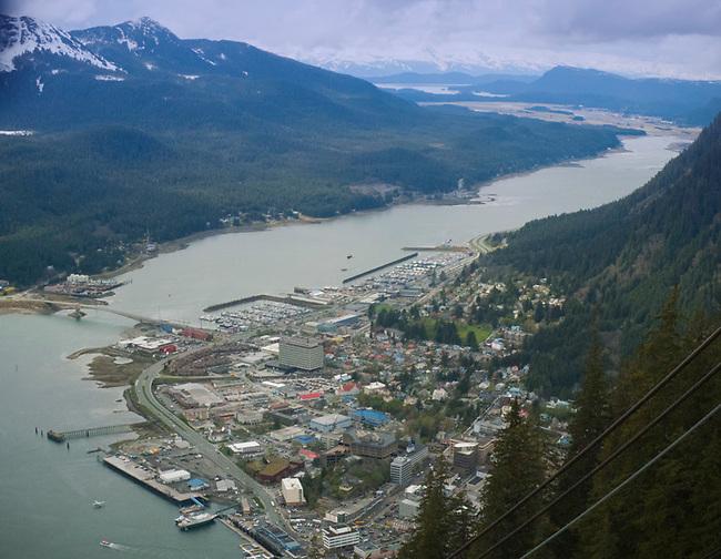 Juneau Alaska from aerial tram