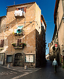 ITALY, Orvieto, Umbria, street amid residential buildings.