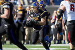 BROOKINGS, SD - OCTOBER 22:  Christian Rozeboom #2 from South Dakota State University returns an interception against Youngstown State in the first half of their game Saturday afternoon at Dana J. Dykhouse Stadium in Brookings. (Photo by Dave Eggen/Inertia)