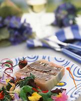 """Europe/France/Bretagne/29/Finistère/Carantec : Gâteau de sardines mi-cuites marinées en escabèche - Recette de Patrick Jeffroy du restaurant de """"l'hôtel de Carantec"""""""