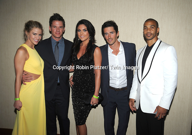 Mark Hapka, Nadia Bjorlin, Brandon Beamer and Aaron Spears attend the  39th Annual Daytime Emmy Awards CBS after party  on June 23, 2012 at the Beverly Hilton in Beverly Hills, California. The awards were broadcast on HLN.