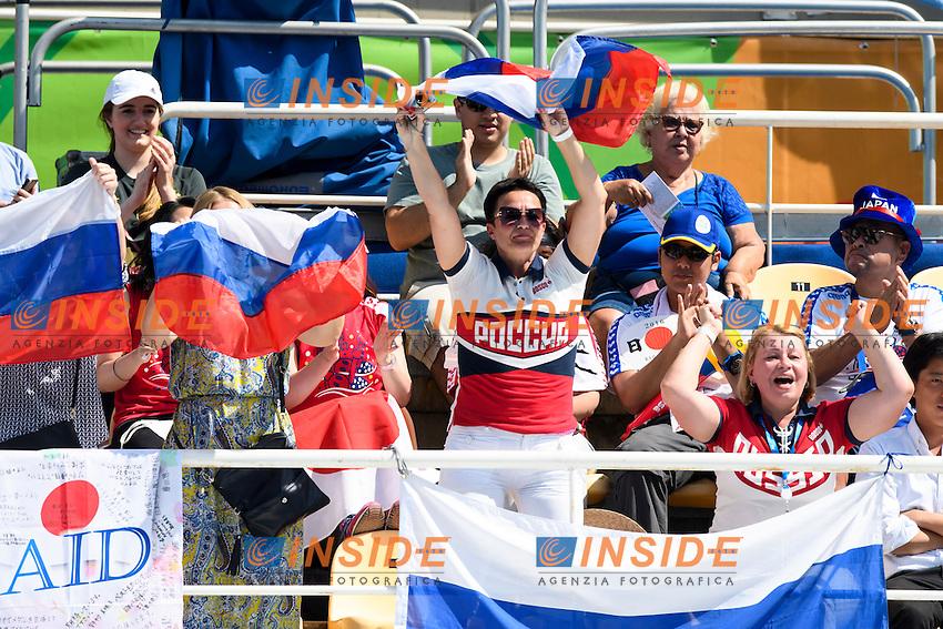 Fans Russia <br /> Duets Technical Routine <br /> Rio de Janeiro 15-08-2016 Maria Lenka Aquatics Center  <br /> Synchronised Swimming <br /> Nuoto Sincronizzato <br /> Foto Andrea Staccioli / Deepbluemedia /Insidefoto