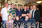 Taking time out for a photo at the 2008 Hod Rod Championship presentation night in The Saddle Bar Listowel, on Saturday night were front, l-r. Aoife and Niamh Greaney, Liam Griffin, and John Scanlon.  Back l-r. Ciara?n Kellegher, Dennis Griffin, Michael Stanley, Johny McElligott, Noel McNamara, Mike Murphy, Con Greaney, Fergus Griffin and Tim Lynch.