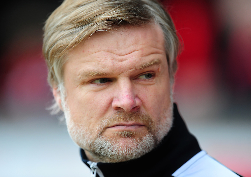 Fleetwood Town manager Steven Pressley <br /> <br /> Photographer Chris Vaughan/CameraSport<br /> <br /> Football - The Football League Sky Bet League One - Walsall v Fleetwood Town - Monday 2nd May 2016 - Banks's Stadium - Walsall   <br /> <br /> &copy; CameraSport - 43 Linden Ave. Countesthorpe. Leicester. England. LE8 5PG - Tel: +44 (0) 116 277 4147 - admin@camerasport.com - www.camerasport.com