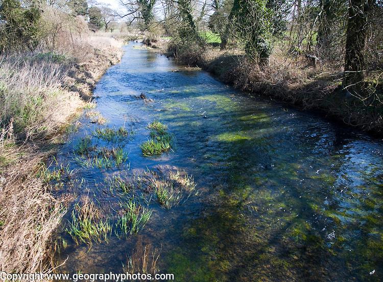 Straight stretch of the River Alde, Blaxhall, Suffolk, England