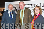 KERRY LIVES: Senator Joe O'Toole who gave a lecture on education as a pupil and teacher as part of the Kerry Lives exhibition at the Kerry County Museum on Friday l-r: Padraig Kennelly, Senator Joe O'Toole and Helen O'Carroll (Curator Kerry County Museum).