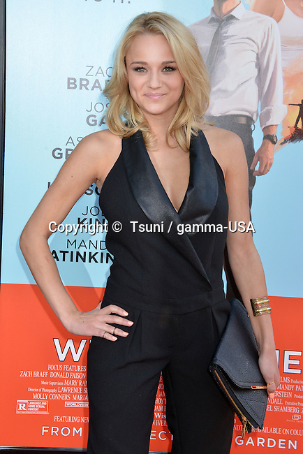 Hunter King at Wish I Was Here Premiere at the DGA Theatre In Los Angeles.