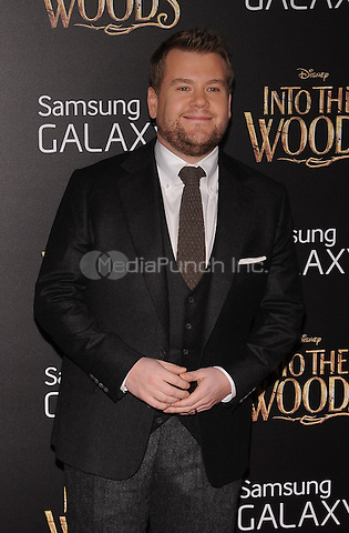 New York,NY-December 8: James Corden Attends the 'Into The Woods' world premiere at the Ziegfeld Theater on December 8, 2014. Credit: John Palmer/MediaPunch
