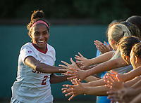 STANFORD, CA - August 30, 2019: Naomi Girma at Maloney Field at Laird Q. Cagan Stadium. The Cardinal defeated the University of Pennsylvania Quakers 5-1.