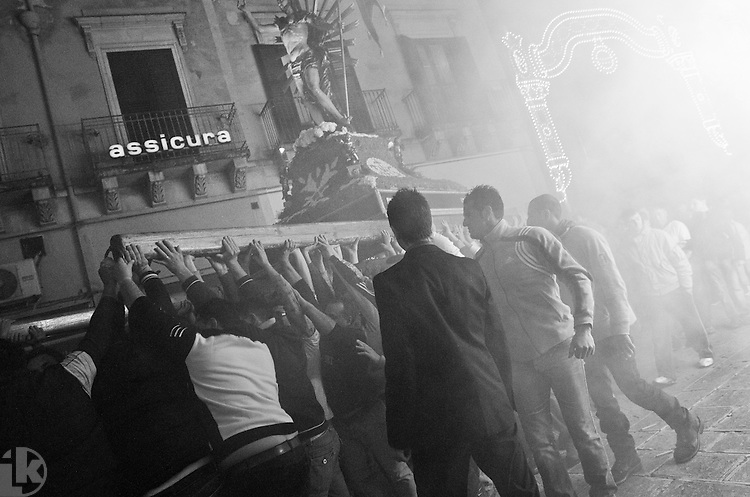 Easter procession in Scicli, Sicily, Italy.