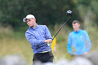 Liam Nolan (Galway) on the 18th tee during the Final of the AIG Barton Shield in the AIG Cups & Shields Connacht Finals 2019 in Westport Golf Club, Westport, Co. Mayo on Saturday 10th August 2019.<br /> <br /> Picture:  Thos Caffrey / www.golffile.ie<br /> <br /> All photos usage must carry mandatory copyright credit (© Golffile | Thos Caffrey)