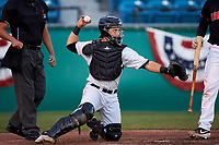 Visalia Rawhide catcher Renae Martinez (9) during a California League game against the San Jose Giants on April 12, 2019 at San Jose Municipal Stadium in San Jose, California. Visalia defeated San Jose 6-2. (Zachary Lucy/Four Seam Images)
