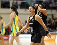 01.09.2010 Silver Ferns Temepara George in action during the Silver Ferns v Australia New World netball test match in Wellington. Mandatory Photo Credit ©Michael Bradley.