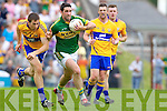 Bryan Sheehan, Kerry in action against Gary Brennan, Clare in the Munster Senior Championship Semi Final in Cusack Park, Ennis on Sunday.